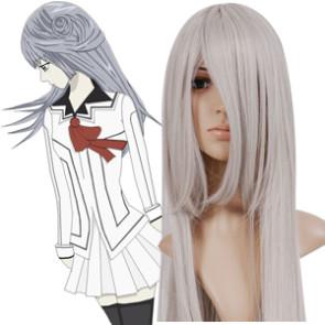 Silver Grey 100cm Vampire Knight Kurenai Maria Cosplay Wig