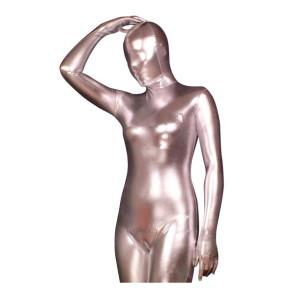 Silver Shiny Metallic Unisex Zentai Suit