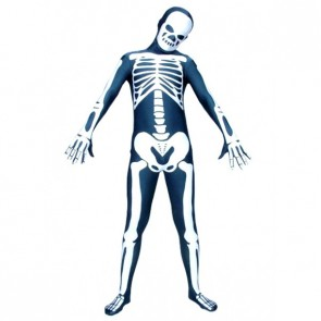 Skeleton Lycra Spandex Zentai Suit