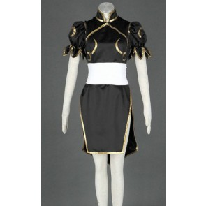 Street Fighter Black Chun Li Cosplay Costume