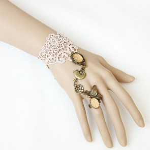 Superb Lace Lady Lolita Bracelet And Ring Set