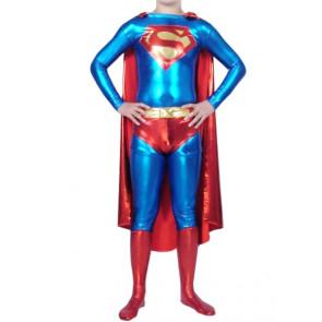 Superman Shiny Metallic Superhero Zentai Suit