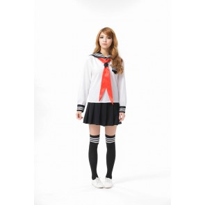 Sweet Black Short Sleeves School Girl Costume