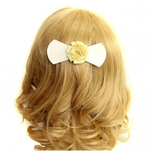 Sweet Bow Floral Girls Lolita Hairpin