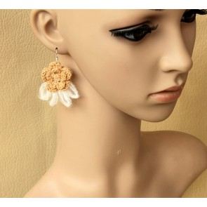 Sweet Floral Girls Handmade Lolita Earrings