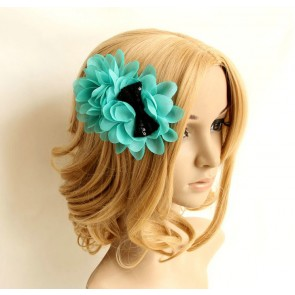Sweet Green Chiffon Girls Handmade Lolita Hairpin