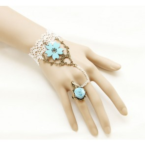 Sweet Lace Sakura Lolita Bracelet And Ring Set