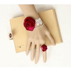 Sweet Rose Lady Lolita Bracelet And Ring Set