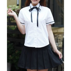 Sweet Short Sleeves Girl Japanese School Uniform Cosplay Costume