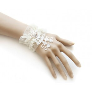 Sweet White Button Handmade Lolita Wrist Strap