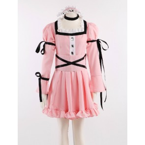 The Future Diary Uryu Minene Pink Lolita Dress Cosplay Costume