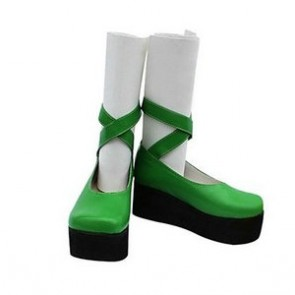 Umineko No Naku Koro Ni Furfur Green Cosplay Shoes