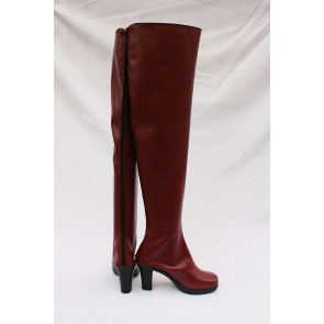 Vocaloid Faux Leather Meiko Cosplay Boots