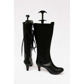 Vocaloid Gumi Black Faux Leather Cosplay Boots