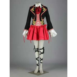 Vocaloid Kagamine Rin Black and Red Classic Cosplay Costume
