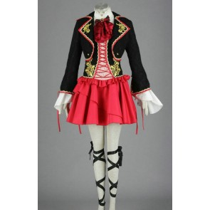 Vocaloid Kagamine Rin Black & Red Cosplay Dress