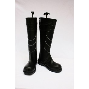 Vocaloid Kagamine Rin Black Faux Leather Cosplay Boots