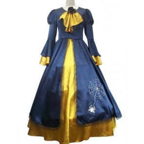 Vocaloid Kagamine Rin Blue And Yellow Cosplay Costume Dress