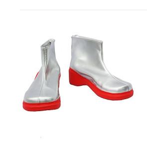 Vocaloid Kiku Silver Cosplay Boots