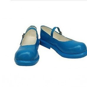 Vocaloid Miku Blue Cosplay Shoes