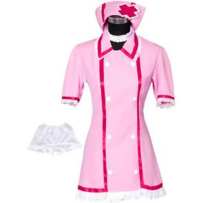 Vocaloid Miku Hatsune Pink Nurse Cosplay Costume