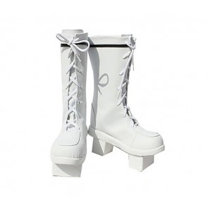 Vocaloid Miku White Cosplay Boots