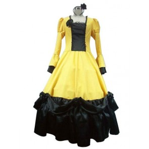 Vocaloid Kagamine Rin Cosplay Costume Yellow Dress