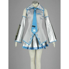 Vocaloid Snow Hatsune Miku Cosplay Costume