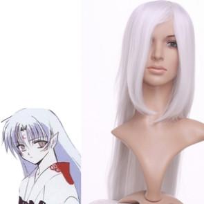 White 100cm InuYasha Sesshomaru Cosplay Wig