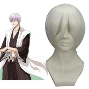 White 32cm Bleach Ichimaru Gin Cosplay Wig