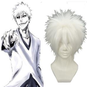White 32cm Bleach Kurosaki Ichigo Nylon Cosplay Wig