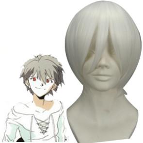 White 32cm Neon Genesis Evangelion Nagisa Kaworu Cosplay Wig