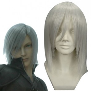 White 40cm Final Fantasy Kadaj Cosplay Wig