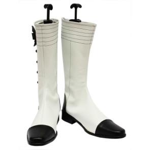 White Black Butler Kuroshitsuji Charles Grey Imitation Leather Cosplay Boots