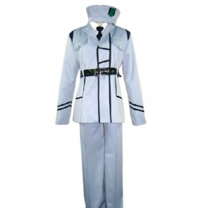 Axis Powers Hetalia White Cosplay Costume Uniform