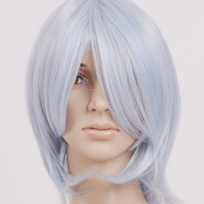 White Light Blue Cosplay Wig