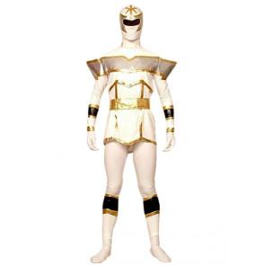 White Lycra Spandex Unisex Superhero Zentai Suit