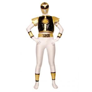 White Warrior Lycra Spandex Superhero Zentai Suit