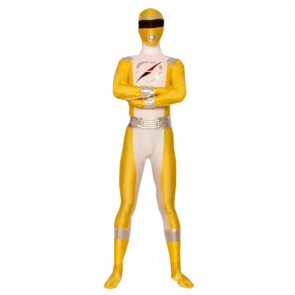 Yellow Lycra Spandex Superhero Zentai Suit