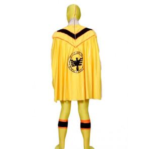 Yellow Lycra Spandex Unisex Superhero Zentai Suit