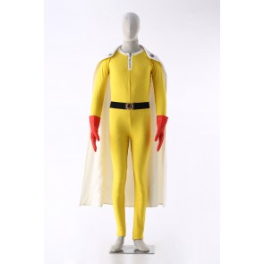 One-Punch Man Saitama Caped Baldy Cosplay Costume