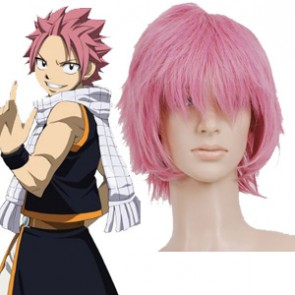 Pink 32cm Fairy Tail Natsu Dragneel Cosplay Wig