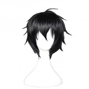 Black 35cm Seraph of the End Cosplay Yuichiro Hyakuya Cosplay Wig