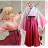 Fate/Stay night Saber Pink Kimono Cosplay Costume