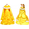 Beauty and the Beast Belle Dress Cosplay Costume With Cape