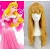 Yellow Sleeping Beauty Princess Aurora Cosplay Wig