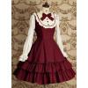 Red Long Sleeves Ruffle Elegant Lolita Dress