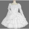 White Lace Cotton Gothic Lolita Dress