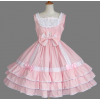 Pink And White Bows Cotton Sweet Lolita Dress