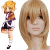 35cm Golden Flax Mixed Tonhou Project Mizuhashi Parsee Nylon Cosplay Wig